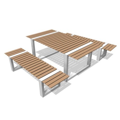 Free Models Kingsley Bate Boca Bench Table The Revit