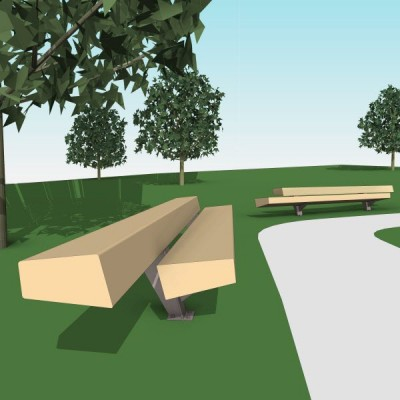 free models landscape forms trapecio bench the revit collection